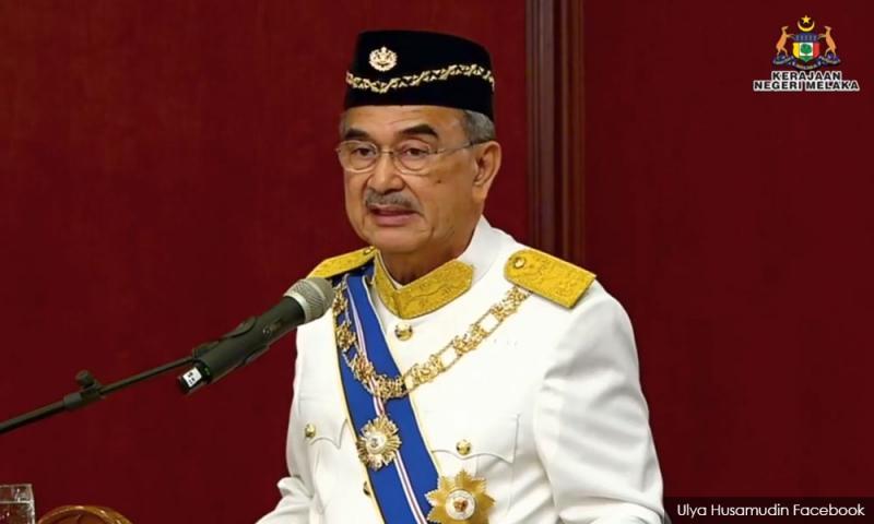 Krisis politik : TYT Melaka sedang jalani kuarantin kendiri 2 minggu